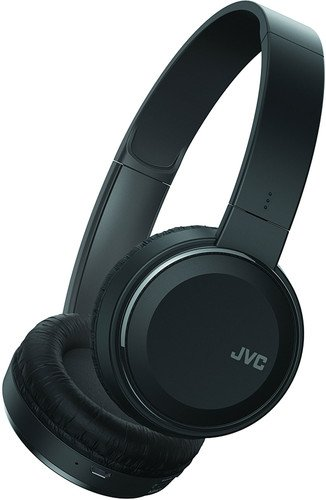JVC Lightweight Flat Foldable On Ear Colorful Lightweight Headband with Mic Black (HAS190MB)