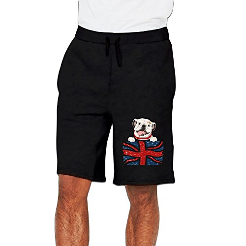 CGH Seven English Bulldog Men's Work Out Pants With Pocket Size3X Black