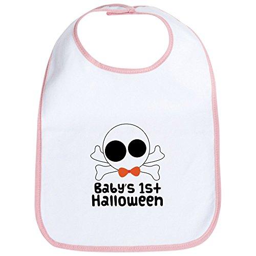 CafePress - Baby's 1st Halloween Skull Bib - Cute Cloth Baby Bib, Toddler Bib