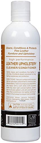 Bayes Premium High Performance Non Toxic Leather Upholstery Cleaner and Conditioner - 16 oz - Prevents Drying, Cracking or Fading of Leather Couches, Car Seats, Shoes, Purses, Pack of 6 by Bayes (Image #2)