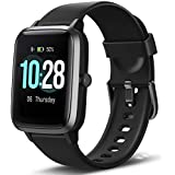 "Letsfit Smart Watch, Fitness Tracker with Heart Rate Monitor, Activity Tracker with 1.3"" Touch Screen, IP68 Waterproof Pedometer Smartwatch with Sleep Monitor, Step Counter for Women and Men"