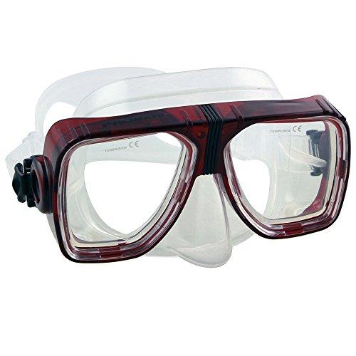 Prescription Lenses (Farsighted Scuba Dive Snorkeling Mask Prescription Lenses, Trans. Red, Farsight+3.0)