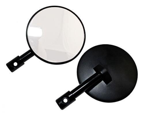 Shin Yo Spiegel f.Lenkerende, rund, schwarz, Paar, E-gepr.