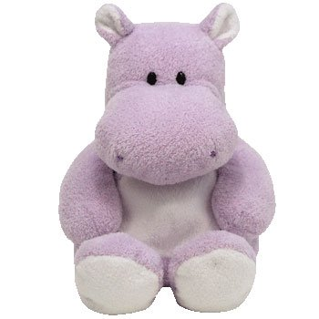 Amazon Com Ty Pluffies Wades The Hippo Toys Games
