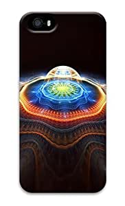 Abstract Plasma Light PC Hard Case Cover for iPhone 5S and iPhone 5