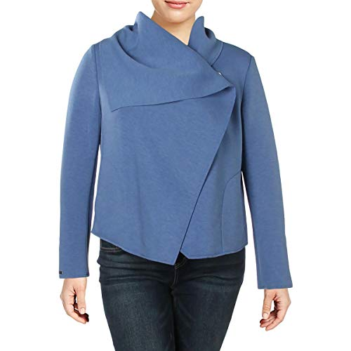Anne Klein Asymmetrical Front Jacket Bright Pacific 14