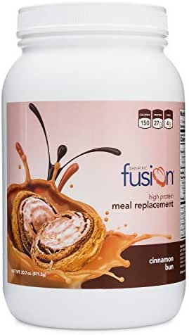 Bariatric Fusion Meal Replacement Protein 21 Serving Tub Cinnamon Bun for Bariatric Surgery Patients Including Gastric Bypass & Sleeve Gastrectomy