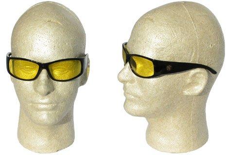 (Smith & Wesson 3016314 Elite Safety Glasses Black Frame Amber Anti-Fog Lens)