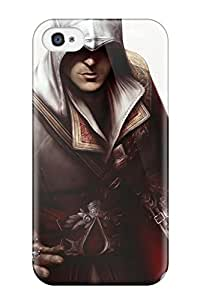 Best Tpu Case Cover For Iphone 4/4s Strong Protect Case - Assassin's Creed Ii Hq Design