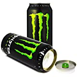 Monster Energy Drink Cola Diversion Safe Can Stash Cash Money Jewellery Keys Secret Compartment Pop Can, Includes an Exclusive WeNeedBongs(TM) Scoop Card