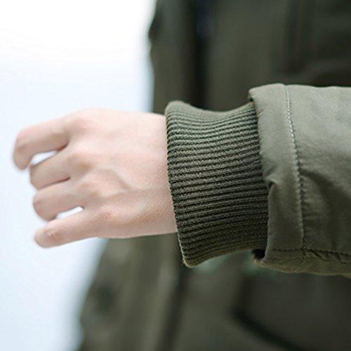 Blouson Parka Trench Chaude Longue Veste Capuchon Femme Verte YOUJIA Slim Arme Militaire Manteau qx4SnqZv