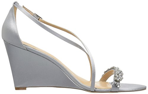 Sandal Jewel Mischka Silver Women's Badgley Little Wedge qUTgwB