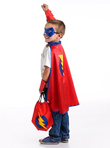 [Little Adventures Drawstring Backpack Super Hero Costume Gift Set for Boys - One-Size (3-5 Yrs)] (3 Group Costumes)