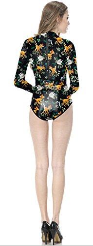 THENICE Mujer Trajes de una pieza Bikini Fawn