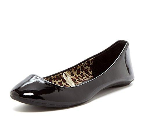 Sexy Flats Ballet - Charles Albert Women's Cobra Slip-On Patent Ballet Flat in Black Size: 7