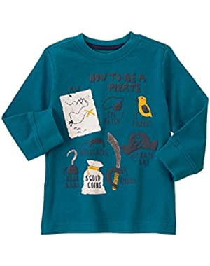 Baby Boy How To Be A Pirate Long Sleeved Tee