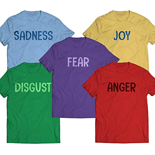 Anger-Disgust-Fear-Joy-Sadness Halloween Matching Costume Funny Emotions Family Group Customized Handmade Hoodie/Sweater/Long Sleeve/Tank Top/Premium T-shirt