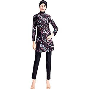 Muslim Swimsuits for Women Plus Size, Modest Islamic Arabic Swimwear Burkini Hijab