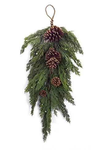 28'' Artificial and Ornamental Cypress Swag with Pine Cones - Unlit by Melrose (Image #1)