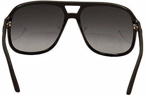 3921242fc108d Gucci 1115 S M1V Black   Rubber 1115 S Square Aviator Sunglasses ...