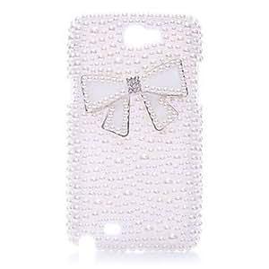 Bowknot completa perla nuevo caso para el Samsung Galaxy Note N7100 2