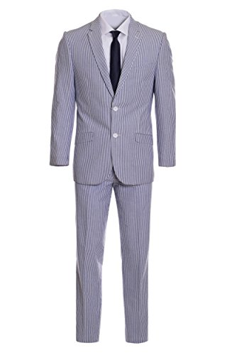 Men's Premium Slim Fit Pinstripe Cotton Seersucker for sale  Delivered anywhere in USA