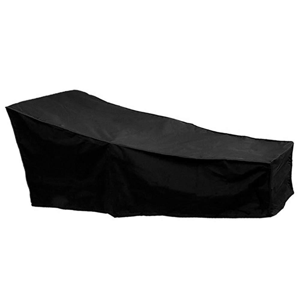 Wrighteu sdraio Covers impermeabile giardino esterno portatile copertura della sedia a sdraio lettino nero