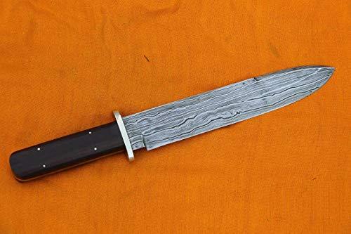 Buddha4all Damascus Dagger Custom Hand Made Damascus Steel Blade Gorgeous Hunting Knife B4UDSK014