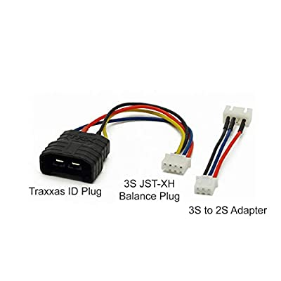 GT Power TRAXXAS ID Male Plug w/ Balance Pins to JST-XH 3S Balance Plug w/ 2S Adapter: LiPo Battery Charger Cable, Wire, Plug: Toys & Games