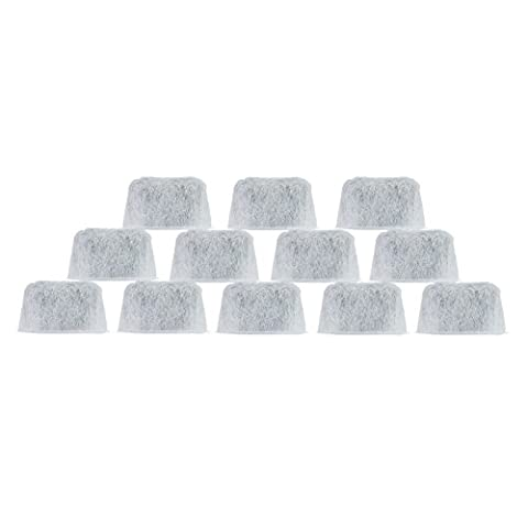 12 Charcoal Water filters Replacement For Cuisinart Coffee Part DCC-RWF (Holistic Granules)