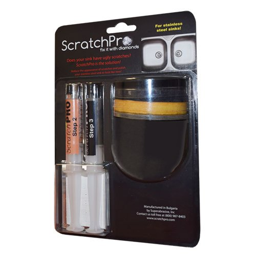 Scratch Pro Kit for Removing Scratches and Polishing Stainless Steel - Scratches Clean To How