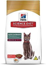Ração Hill's Science Diet Sabor Salmão para Gatos Adultos Castrados - 7