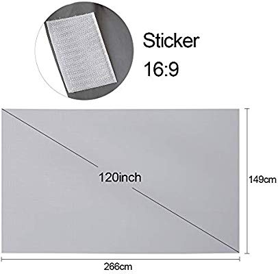 Docooler 120 Proyector portátil Pantalla HD 16: 9 120 Pulgadas ...
