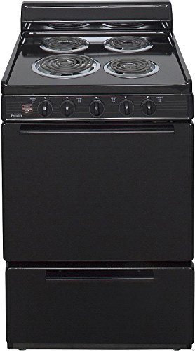Premier ECK100BP 24'' Freestanding Electric Range with 2.4 cu. ft. Capacity 4 Burners Two Heavy-Duty Oven Racks Closed Door Boiling Storage Drawer and Leveling Legs in by Peerless-Premier