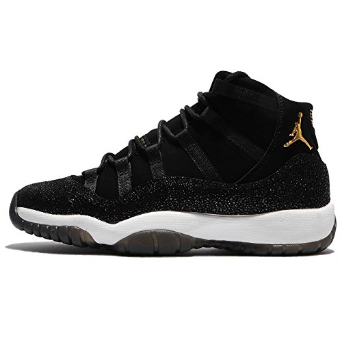 Jordan Air 11 Retro Premium HC Big Kids' Basketball Shoes Black/Gold-White 852625-030 (6 M US) by Jordan