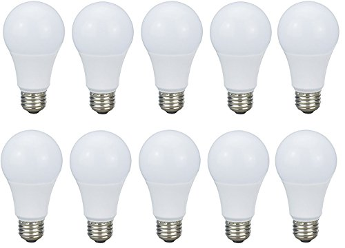 Premium Warm White Dimmable LED BULB A19 11W (60W Equivalent) 3000K - E26 UL-Listed - 10 PACK