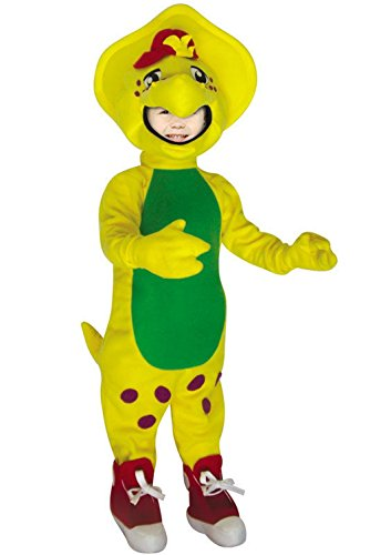 Mememall Fashion Barney BJ Child Halloween Costume (Plush Cow Mascot Costume)