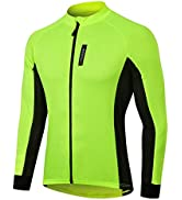 Cycling Jersey for Men, Long Sleeve 1/4 or Full Zip Mountain Road Bike Bicycle Shirts Riding MTB ...