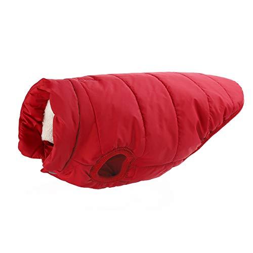 para TFENG Chaqueta Coat de 3XL Forro mayoría Perros de XS 3 Rojo la los Colores Dog Polar Invierno 5qwwr40IR