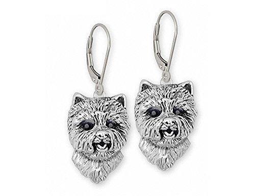 Westie Earrings Jewelry Sterling Silver Handmade West Highland White Terrier Earrings WS4-E