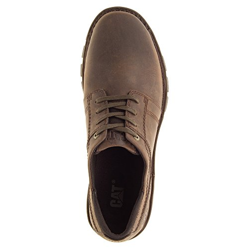 Caterpillar Mens Caden Scarpe Stringate In Pelle Marrone Scuro