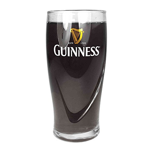 Tuff-Luv Guinness Media Pinta de vidrio original Vidrio/Gafas/Barware CE 10oz