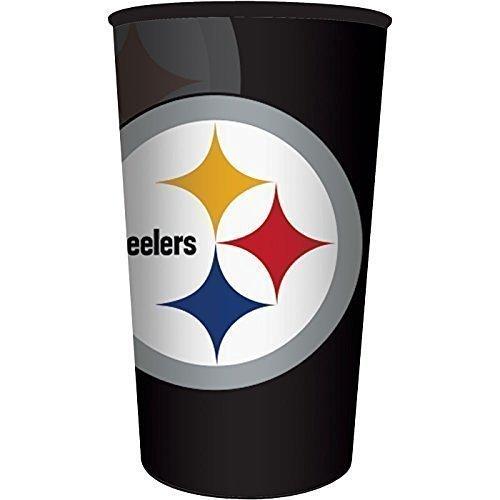 NFL Pittsburgh Steelers Plastic Stadium Cup, 22 oz]()