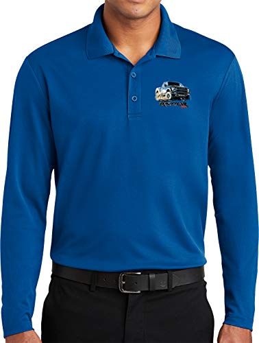 Ford F-150 Raptor Pocket Print Long Sleeve Polo, Royal -