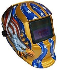 Casco de soldador Gafas de soldar Diadema de la m/áscara de soldadura de soldadura ajustable for accesorios de casco oscuro de Auto Solar