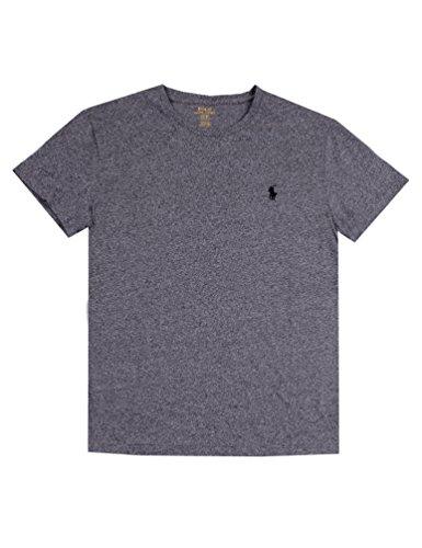 Variant Red Jersey - Polo Ralph Lauren Men's Classic Fit Crew-Neck T-Shirt Cotton (S, Pepper Heather)