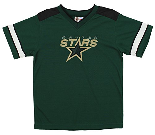 Dallas Stars NHL Big Boys Youth Vintage Short Sleeve Jersey Shirt, Green (Small 8-10, Green)