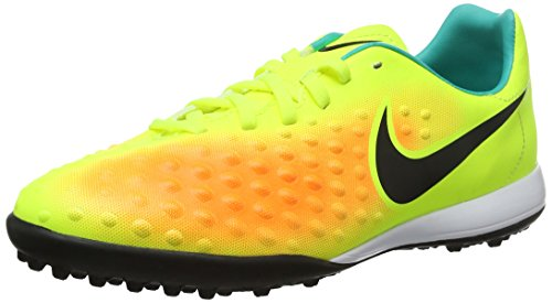 Nike Kids' Jr. Magista Opus II TF Turf Soccer Cleat (Sz. 5.5Y) Volt, Orange by NIKE