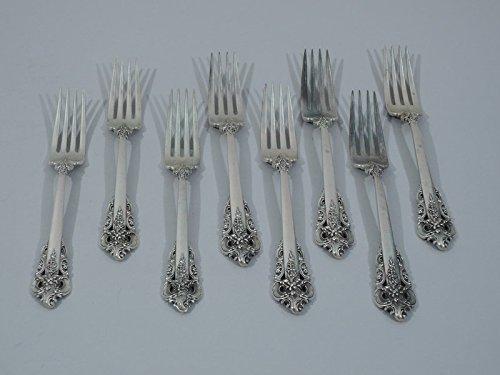 Set of 8 Wallace Grande Baroque Sterling Silver Forks