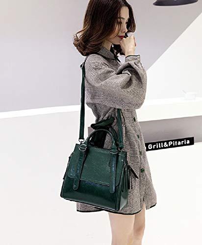 Tracolla Xwh Atmosphere Donna Selvaggia Viaggio Verde centimetro nero Spalla Fashion Mano Borsa Da Business Donna A 4w4gBqRz